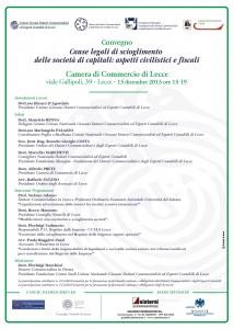 convegno legge 15 dicembre 2015 scioglimento societa capitali cause legali
